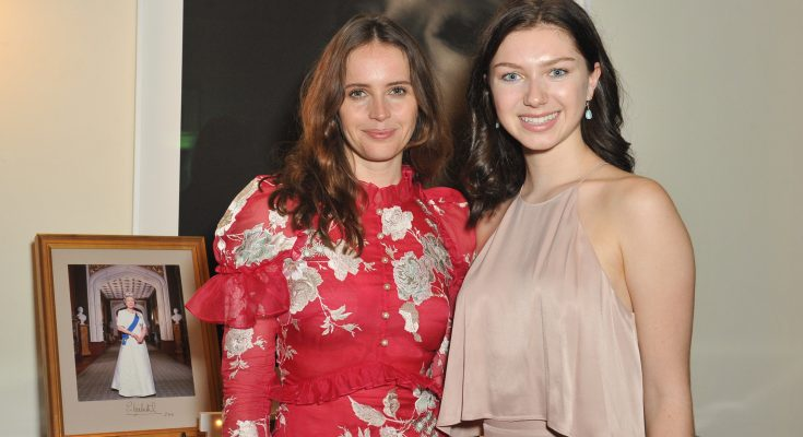 Photo: British actress Felicity Jones on the left and Isabella on the right.